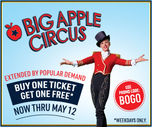 BOGO buy one get one big Apple Circus Boston Massachusetts Peabody MA kids, children, families
