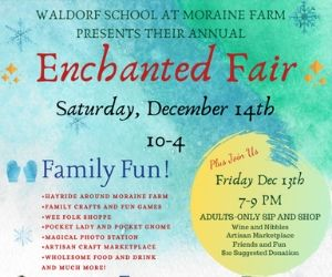 Enchanted Eve at Waldorf School at Moraine Farm. Beverly MA