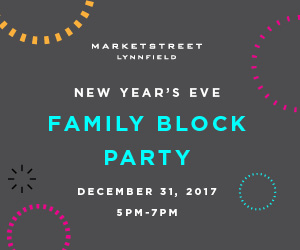 Calendar of Events at MarketStreet Lynnfield. New Year's Eve and Holiday Events at MarketStreet Lynnfield