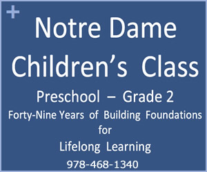 Notre Dame Children's Class in Wenham MA