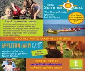 Summerquest kids day camp at the Trustees of Reservations Crane Estate in Ipswich, Massachusetts
