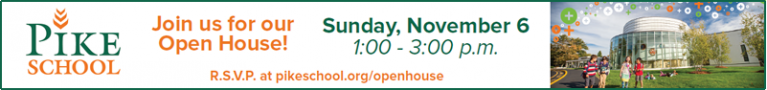 Pike School Open House Andover MA. An independent, coed, day school for pre-kindergarten through ninth grade.