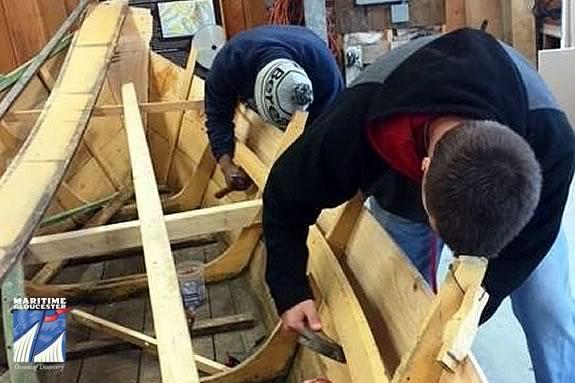 Boat building Summer Program for kids ages 11-15 at Maritime Gloucester