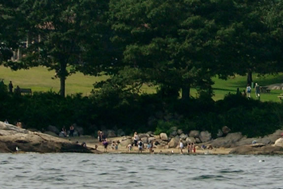 Half Moon Beach is located at Stage Fort Park in Gloucester Massachusetts
