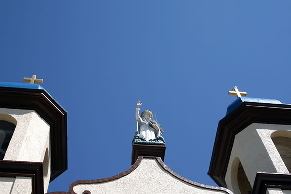 Our Lady of Good Voyage is an icon in the fishing port of Gloucester, Mass.