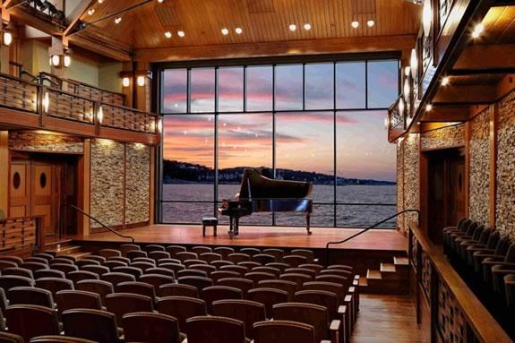 Shalin Liu Performance Center in the heart of downtown Rockport, Massachusetts