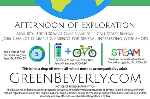 Join Change is Simple Inc at Camp Paradise in Beverly Massachsuetts for an afternoon of epxloration and fun!
