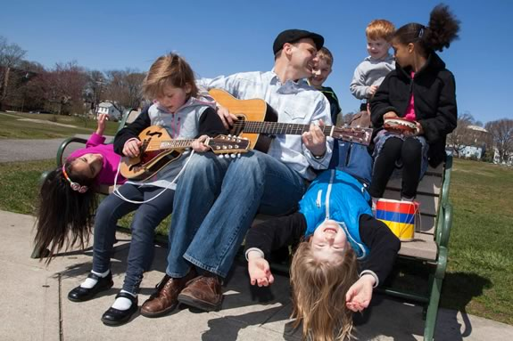 Alastair Moock brings folk music for kids to the Cabot Theater in Beverly, Massachusetts!