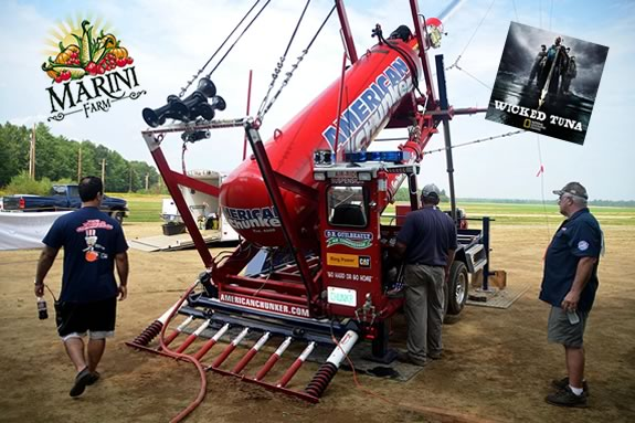 Come to Marini Farms for a FREE pumpkin chunkin show featuring American Chunker and Captain Dave from Wicked Tuna.