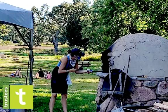 Appleton Farm's Pizza Picnics are a great way to get outside with the family while socially distancing in Ipswich Massachusetts!