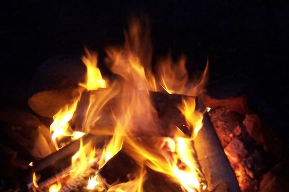 Winter Campfire and Hike at Endicott Park in Danvers Massachusetts