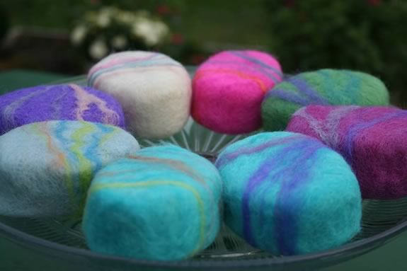 Felted soap making workshop mom's night out at Appleton Farms in Ipswich Massachusetts