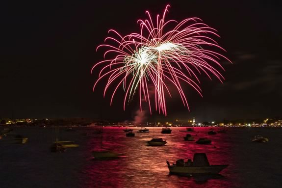 The FREE Annual Independence Day Fireworks Extravaganza Concert on Gloucester Harbor Fourth of July