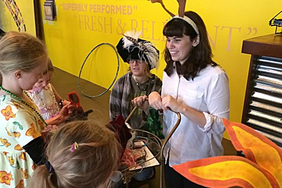 Playtime Stories offers young children the unique opportunity to experience the fun and magic of live theatre at the Gloucester Stage Company in Gloucester Massachusetts