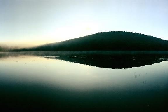 Lake Gardner and Powow Hill.  Photo: Lake Gardner Improvement Association.