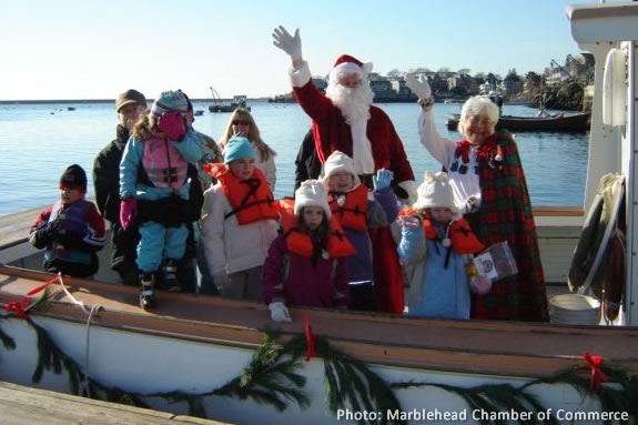 Come to Marbleehad to welcome Santa as he arrives for the Christmas Walk!