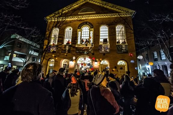 Celebrate New Years Eve at Salem Massachusetts' Town Hall with your family!