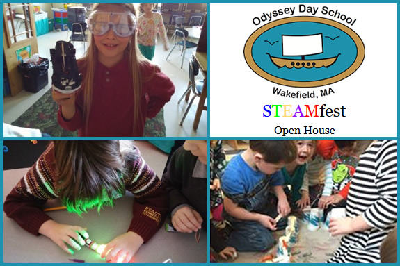 Odyssey Day School in Wakefield MA STEAM fest and Open House