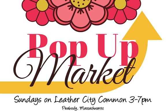 The Peabody Pop-up market happens weekly in Peabody Massachusetts on the Leather City Common
