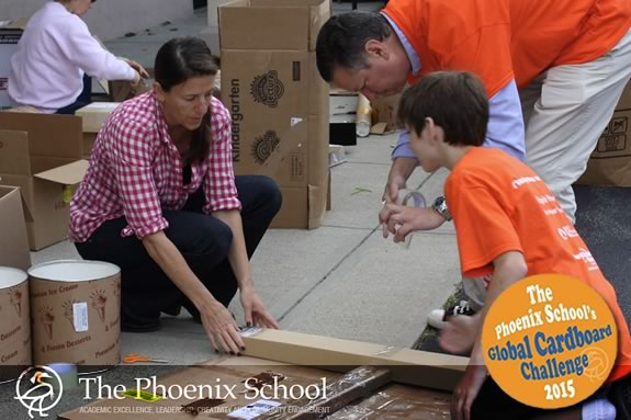 Take the Carboard Challenge in Salem Ma with the Phoenix School and Imagination Foundation!