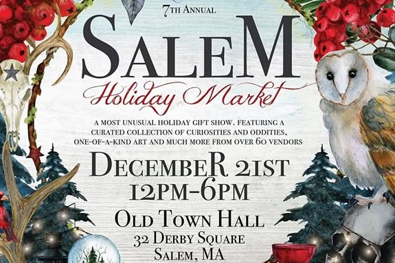 Find unique arts, crafts and gifts at the Holiday Market in Salem, Massachusetts