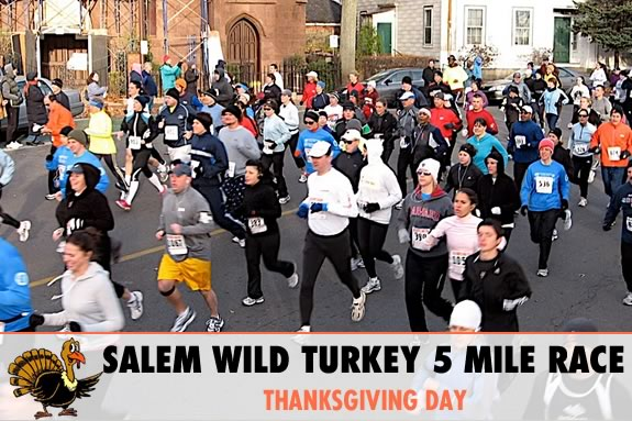 Run like a turkey through downtown Salem MA on Thanksgiving Day! Proceeds benefit the Boys & Girls Club of Greater Salem.
