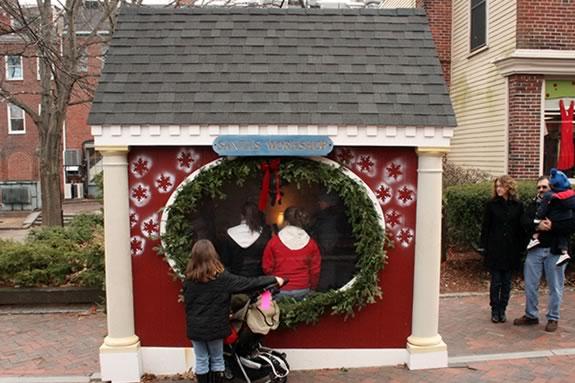 Santa's Workshop is seasonally located on Inn Street in Newburyport.