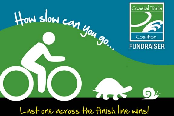The Slow Bike Race is where the winner is the person who finishes last!
