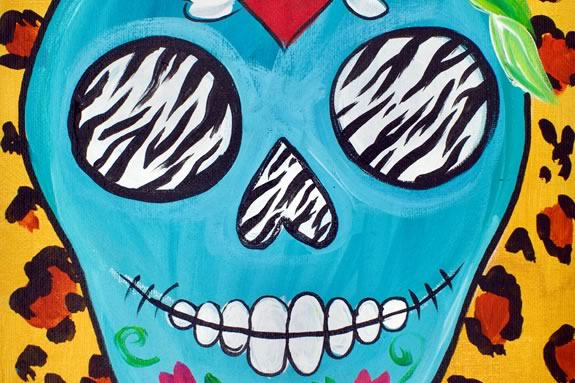 Kids in Grades 6-12 are invited to NPL to paint their own sugar skull paintings in Newburyport!