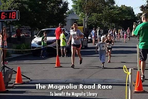 The Annual Magnolia Road Race and Fun Run benefits the Magnolia Library!