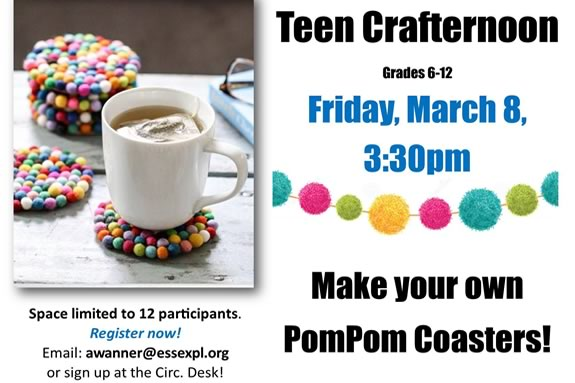 TOHP library in Essex Massachusetts hosts a Teen Crafternoon!