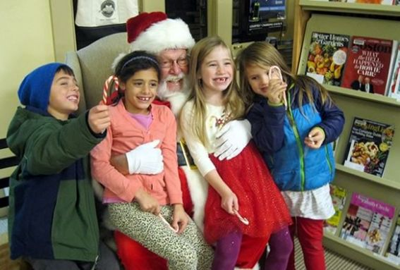 Kids will read stories with Santa at the Essex TOHP Burnham Library!