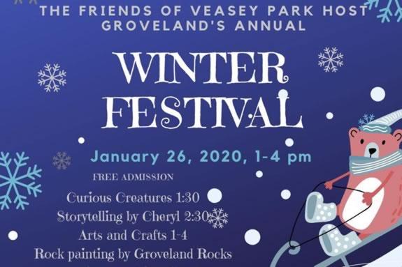 Winter Festival at Veasey Memorial PArk in Groveland, MA