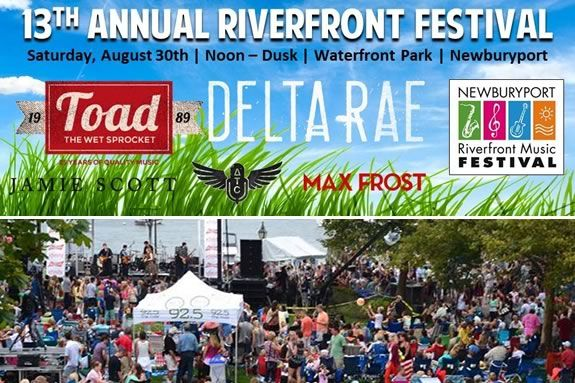 Rock the River at the Newburyport Riverfront Music Festival Labor Day Weekend!