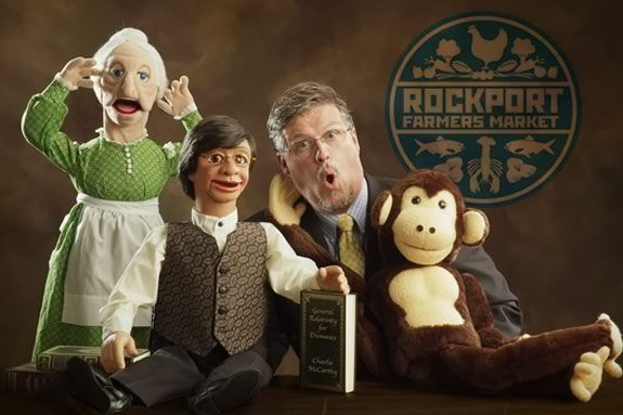 See Ventriloquist Al Getler at the Rockport Farmers Market