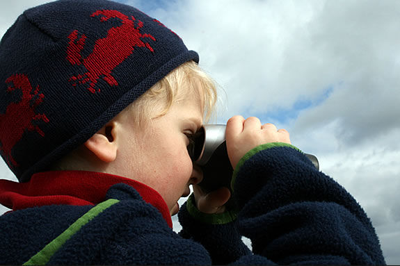 You and your child can learn the basics of birding at Halibut Point State Park