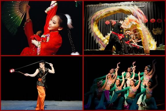 Members of the Chinese Folk Art Workshop perform traditional dance and movement