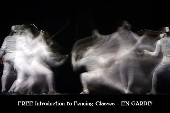 Enter the world of fencing with this FREE introductory class at Olympia Fencing!
