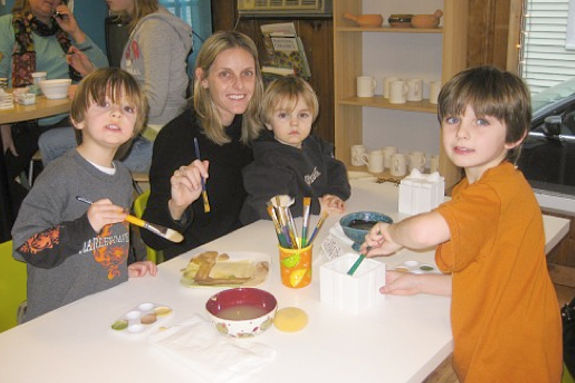 Pottery Ceramic Studio in Gloucester MA Family Fun north of Boston for Families