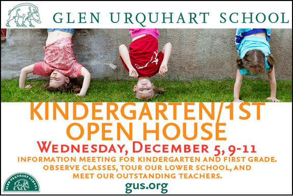 Glen Urquhart GUS Admissions Open House 2012. A great education for North Shore