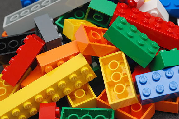 The Amesbury Public Library invites families to build LEGO creations!