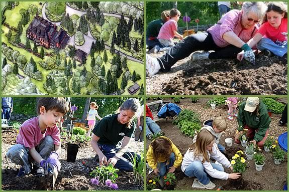 Kids can help plant flowers and vegetables at Long Hill in Beverly MA.