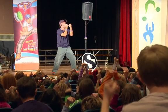 Ooch is a motivational speaker who teaches kids life skills that last a lifetime