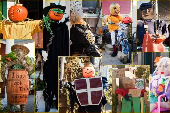 Enter your scarecrow to win in the Rockport Harvest Fest Scarecrow Stroll!