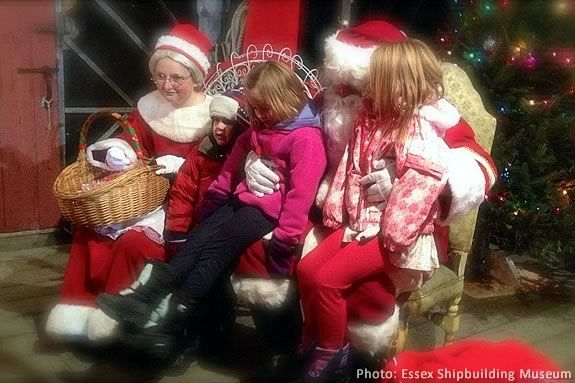 After Santa arrives in Essex, kids will have a chance discuss their wish list wi
