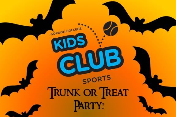 The Gordon College Kids Club invites families to their FREE Trunk or Treat Party