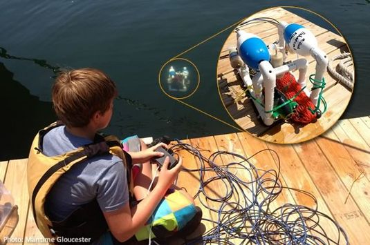 Kids will build their own underwater robot at Maritime Gloucester duirng a week-