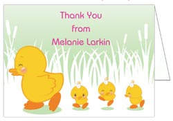 Storkie express baby thank you cards