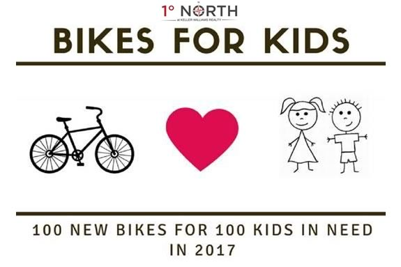 1° NORTH is donating 100 Bikes for 100 Deserving Children of the North Shore this holiday season.
