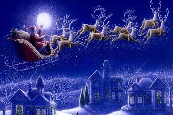 Santa Arrives North of Boston